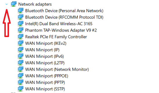 Expand Network Adapters
