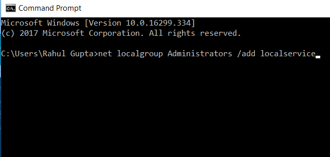 Type Net Localgroup Command