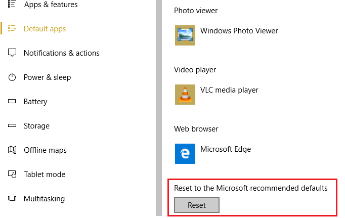 Reset to Microsoft recommended defaults