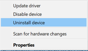 Uninstall Device