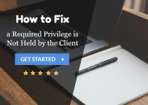 a Required Privilege is Not Held by the Client