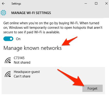 can not connect to wifi windows 10