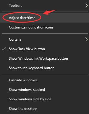 Adjust Data/Time