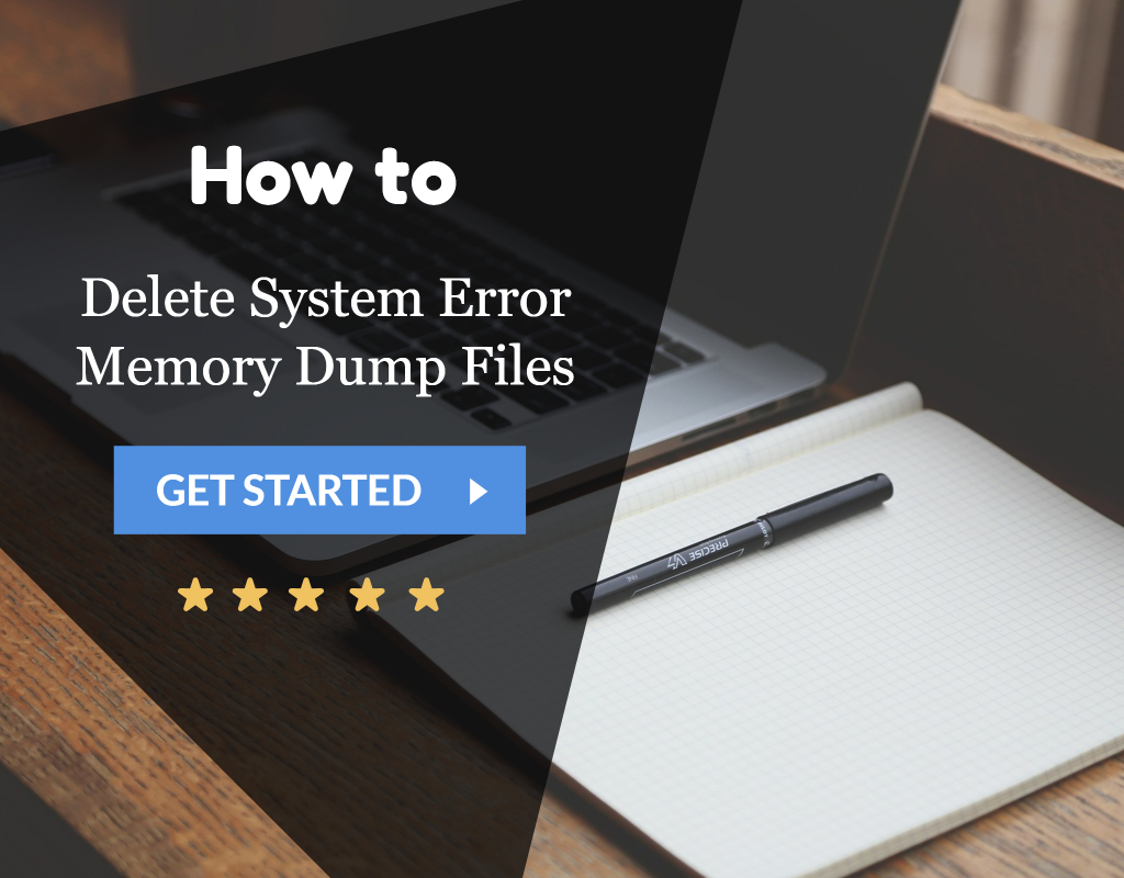 Delete System Error Memory Dump Files