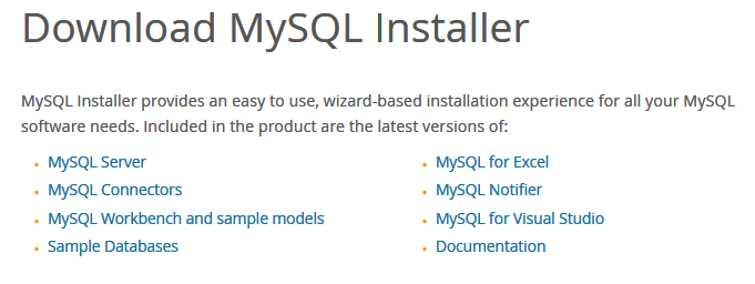 Download MySQL Installer