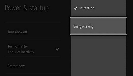 Energy Saving Mode in Xbox