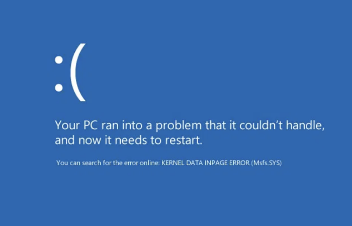 Kernel Data Inpage Error in Windows 10, 8 & 7