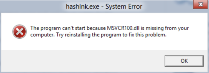 msvcp100.dll is missing in windows 10
