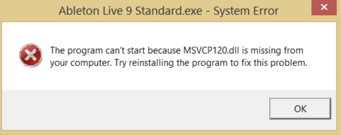 msvcr120.dll is missing from your computer