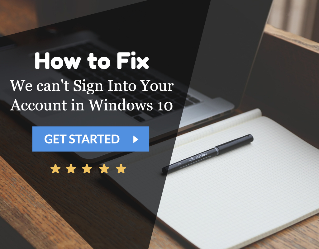 windows 10 cant sign into account