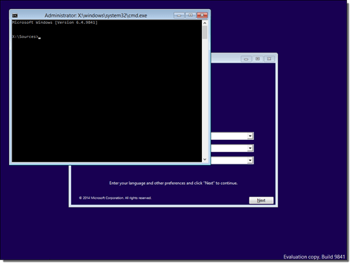 command prompt shift F10