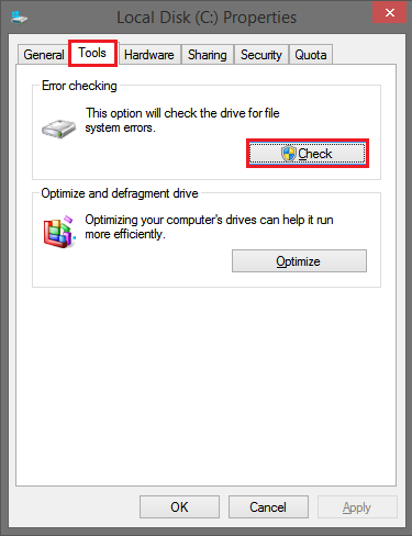 drive error checking