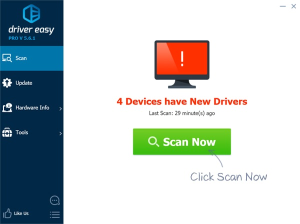 driver easy Scan Now
