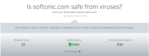 is softonic safe