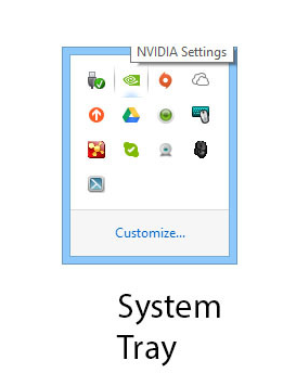 nvidia software in system tray