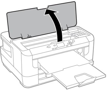 open printer casing