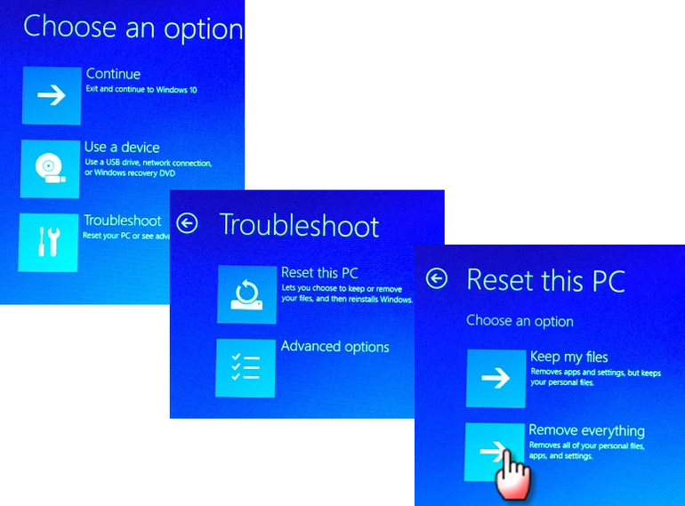 troubleshoot remove everything