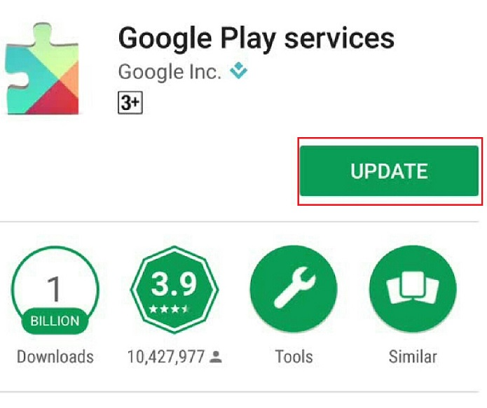 update play service