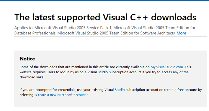 visual c++ downloads