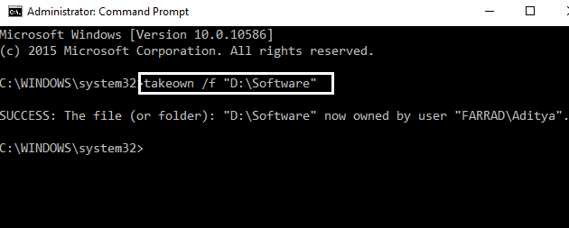 Takedown Ownership Using Command Prompt