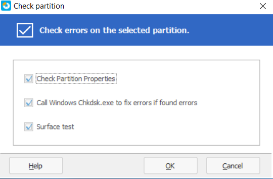 Methods to Check Partition