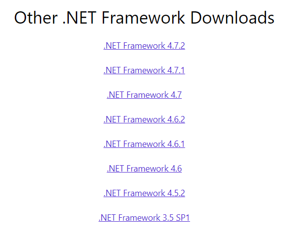 Other .NET Framework Downloads