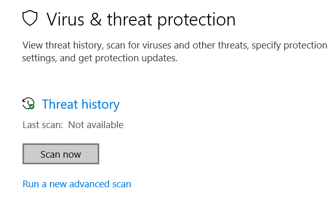 Scan Now Windows Defender
