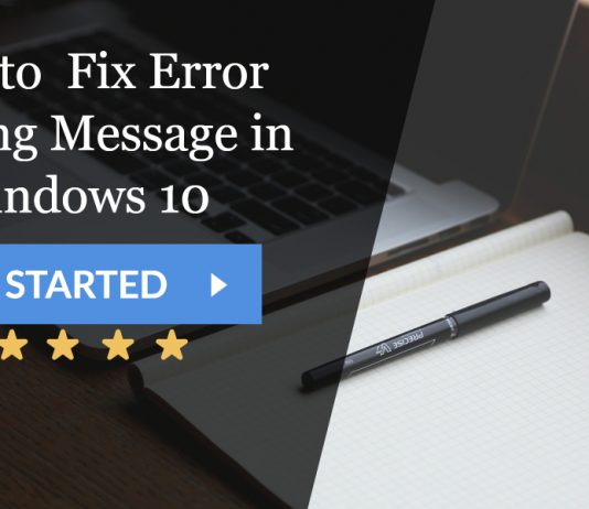 Fix Error Printing Message in Windows 10