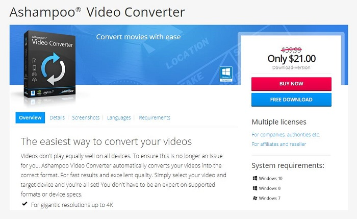 Ashampoo Video Converter