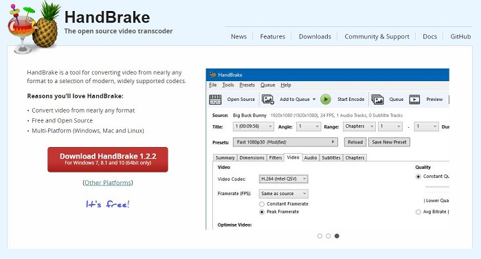 HandBrake Video Converter Software