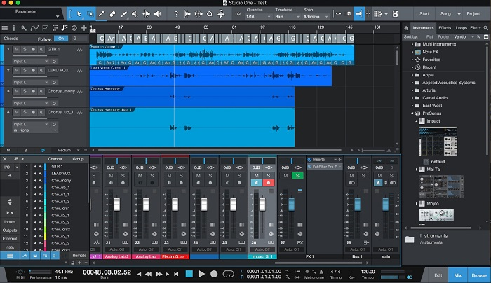 Presonus Studio One Prime 4 - Best Free Music Making Software