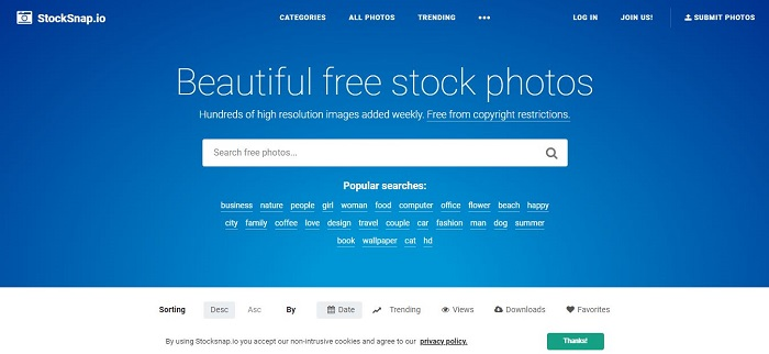 StockSnap - Best Free Stock Photo Sites
