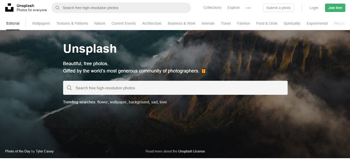 Unsplash - Best Free Stock Photo Sites
