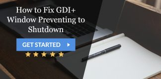 How to Fix GDI+ Window Preventing to Shutdown