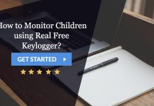 how to monitor children using real Free keylogger?