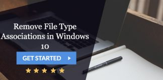 remove file type associations in windows 10