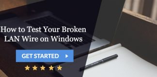 how to test your broken lan wire on windows