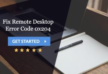 fix remote desktop error code 0x204