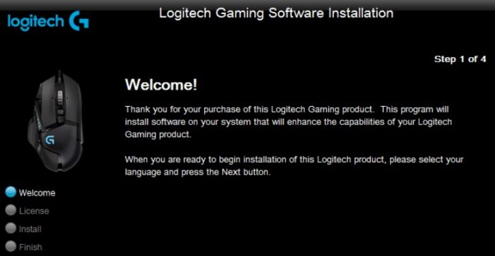re-install logitech gaming software