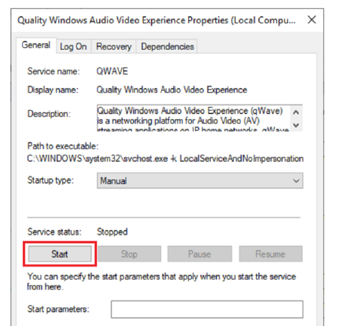 start quality windows audio experience