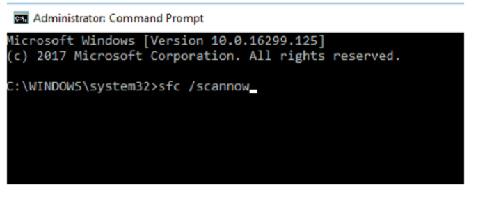 command prompt sfc